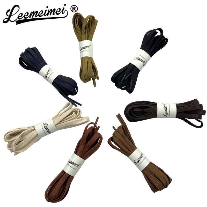 Waxed Shoelaces Leather Shoes Waterproof Cotton Shoe Laces Snow Martin Boots Bootlace Shoelace 120cm pz0 5 16 0 5 16mm2 crimping tool bootlace ferrule crimper and 1k 12 awg en4012 bare bootlace wire ferrules