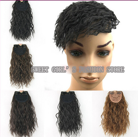 Popcorn hair extensions om hair gorgeous natural y curly popcorn clip on front bang fringe hair extensions piece 4 colors pmusecretfo Image collections