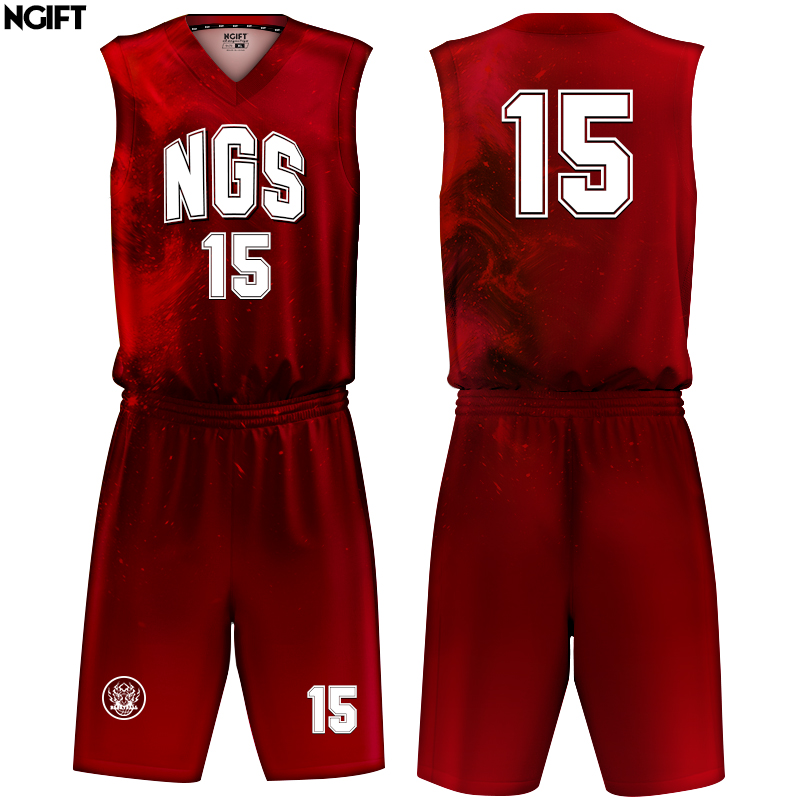 save off 2c083 c2dee US $38.0 |Ngift Sublimation custom Basketball Jersey Sets Uniforms Kits  Sports Clothing Breathable Custom College-in Basketball Jerseys from Sports  & ...
