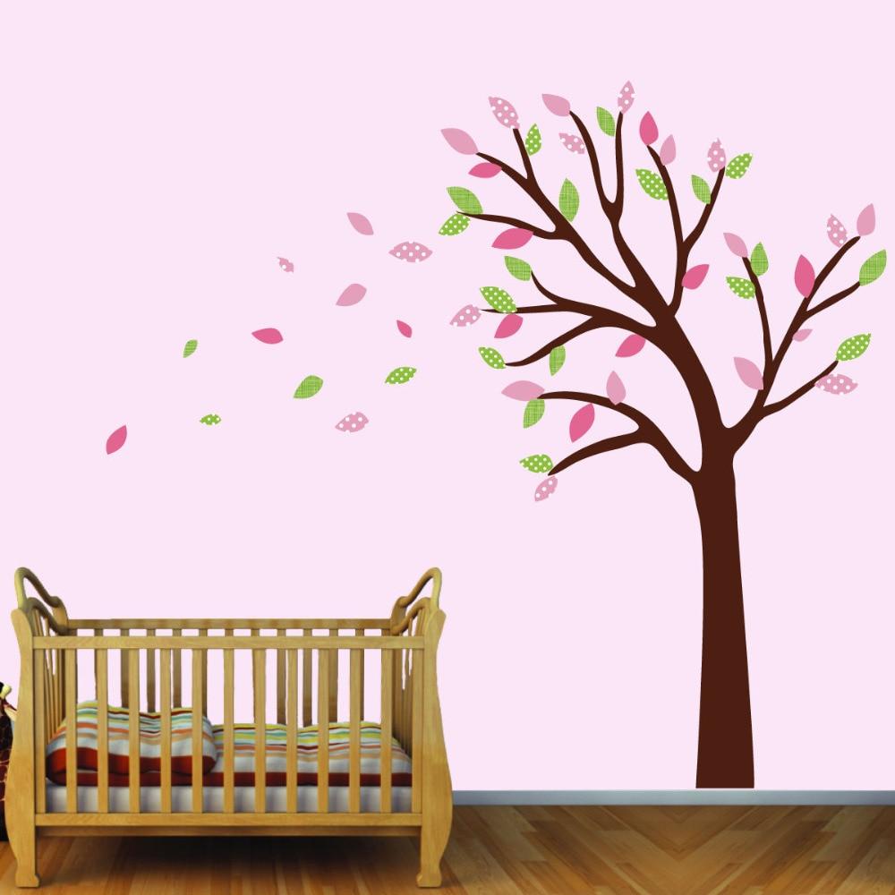 Blowing Vinyl Tree Decal, Girls Room Tree Wall Art ...