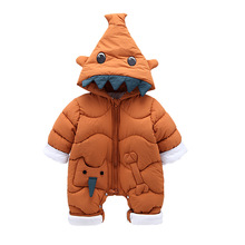 Rompers Baby Winter 2018 Baby Girl Boy Clothes Warm Thicken Elephant Romper Children Winter Jumpsuit Overalls for Newborns hh baby winter clothes girl romper warm jumpsuit baby overalls long sleeve hooded outerwear snowsuit baby boy winter overalls