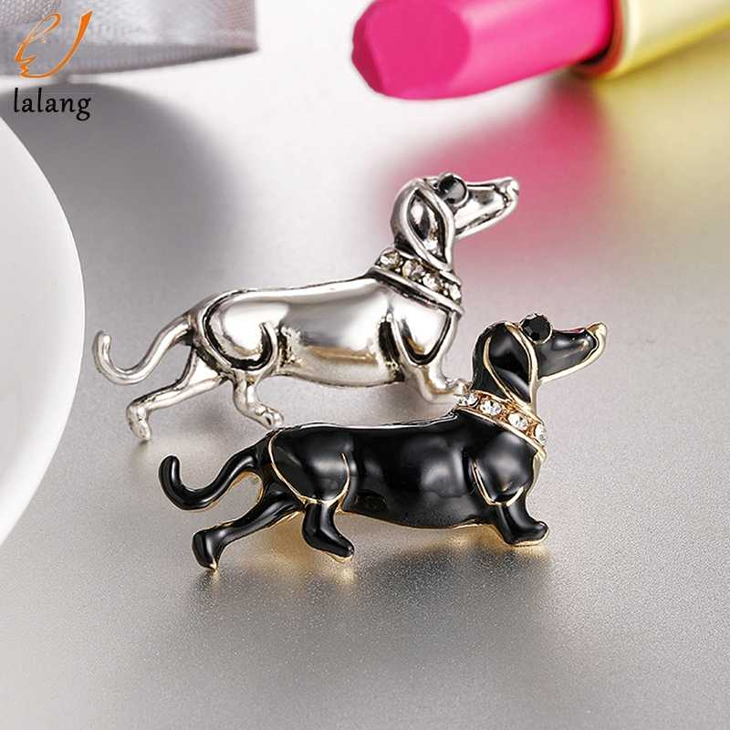 Cute Fashion Enamel Dachshund Dog Animal Brooch Pin for Women men Kids Personality Jewelry