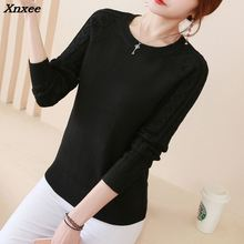 2018 Winter Fashion Split Swallowtail Female Loose Sweaters Round Neck Women Pullovers womens pullover Xnxee