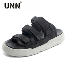 Men's Sandals Outside Handmade Summer Slides Casual beach shoes male Buckle Roman shoes Non-slip sandals Slipper