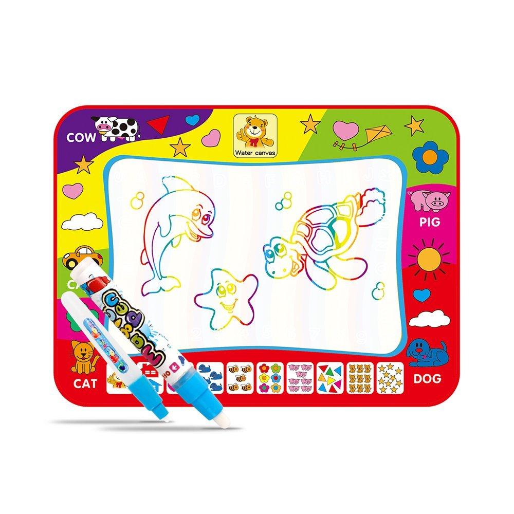 80x60 см Детские добавить воды с Magic Pen Doodle картина Вода Рисование играть мат в рисунок игрушки доска подарок на Рождество