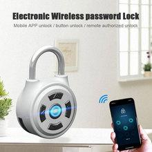 Bluetooth Password Lock APP Phone Remote Keyless Stainless Steel Portable Universal Case
