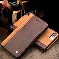 Для iPhone 7 Натуральная Кожа Эксклюзивная Модная Кожаный чехол для телефона для iPhone 7 plus флип pure ручной работы крышка 4.7/5.5 Бумажник случае