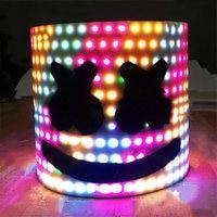 Bar MarshMello DJ Mask Tiesto LED Full Head Helmet Cosplay Party Props Supplies FJ88