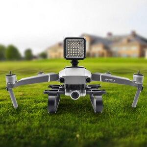Image 4 - DJI Mavic 2 iniş Skid Gopro kamera LED ışık montaj/iniş takımı DJI Manvic 2 Pro/Zoom drone aksesuarları