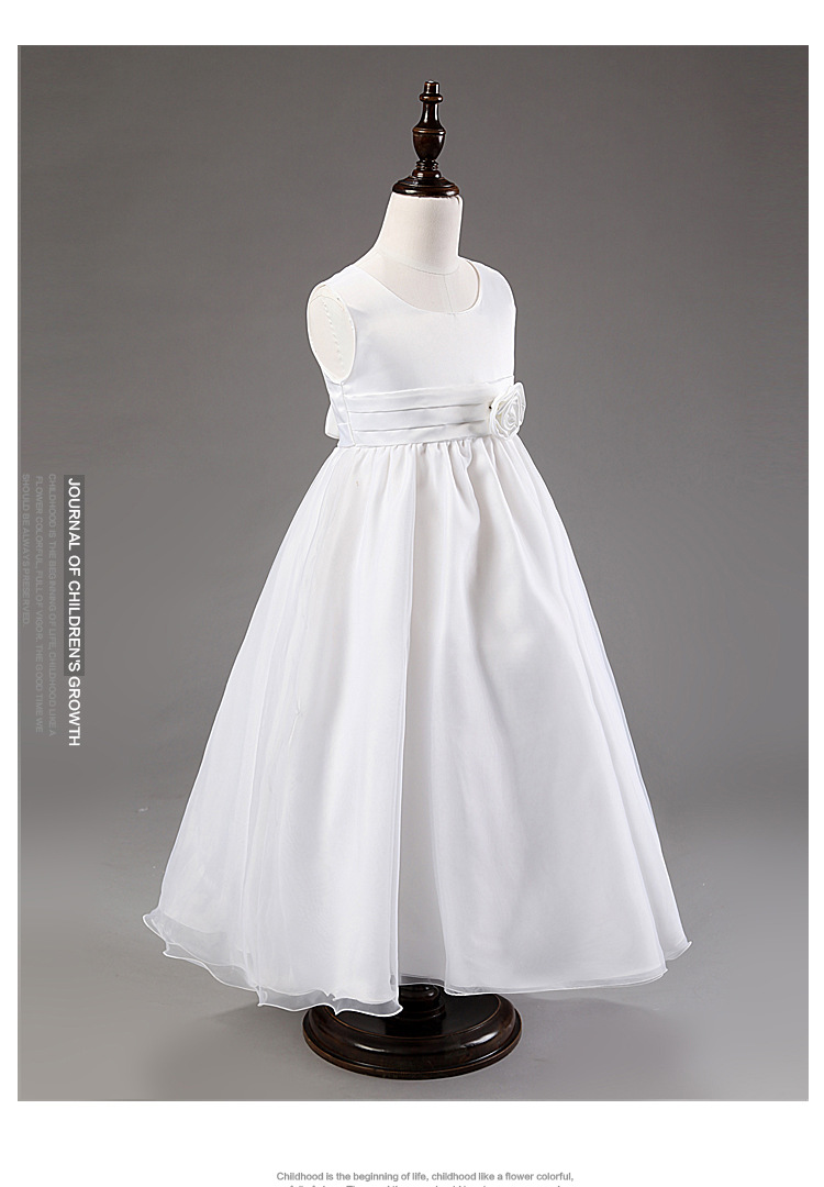 Flower Girls Dresses For Wedding Gowns Satin Kids Prom Dresses For Girls Party Long Holy Communion Mother Daughter Dresses