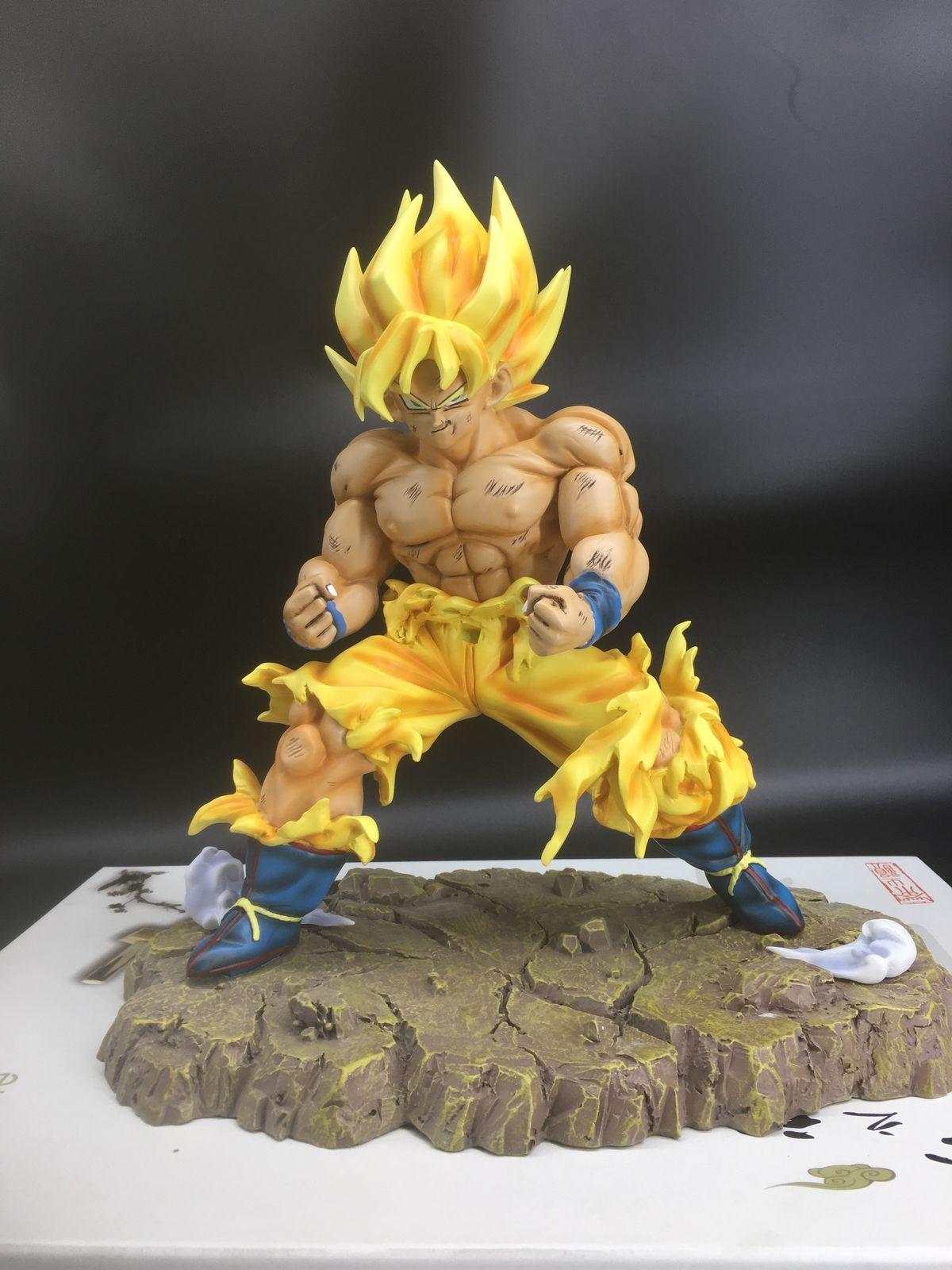Flight Tracker Dragon Ball Z Dbz Super Saiyan War Damage Ssj Goku Resin Gk Statue Figure 11inch Toys & Hobbies