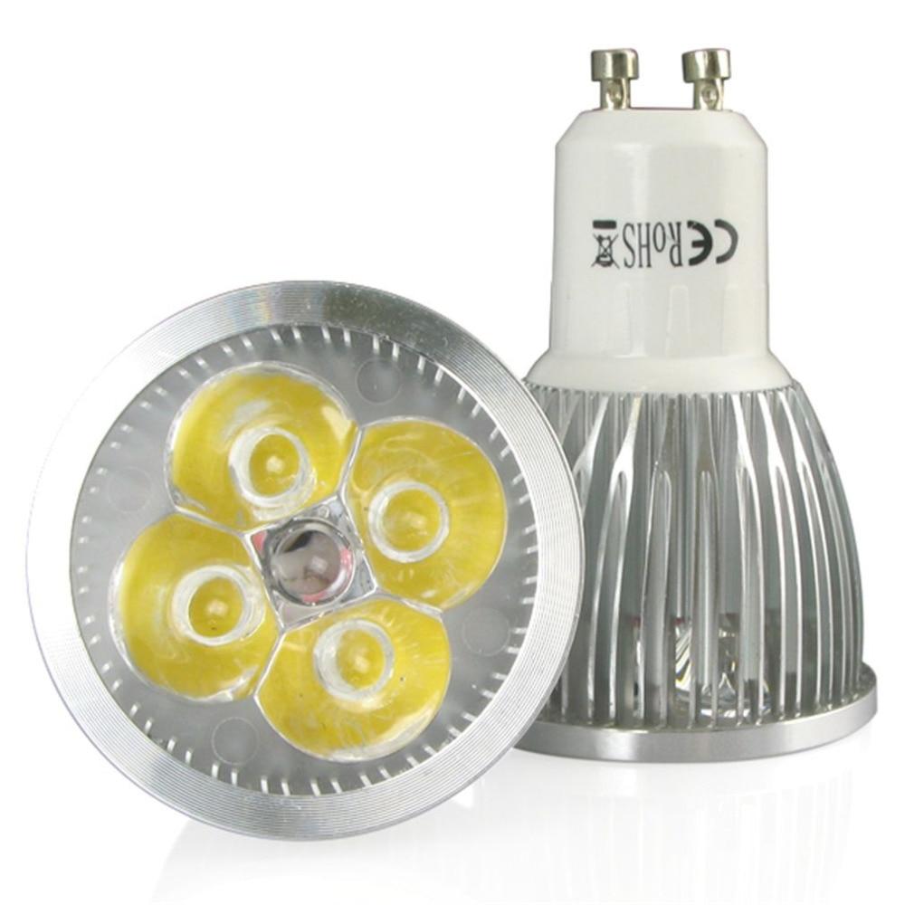 10pcs GU10 LED Lamp Bulb 4W High Power lampada Cob LED Spot Light Bulbs Warm White Inventory Clearance