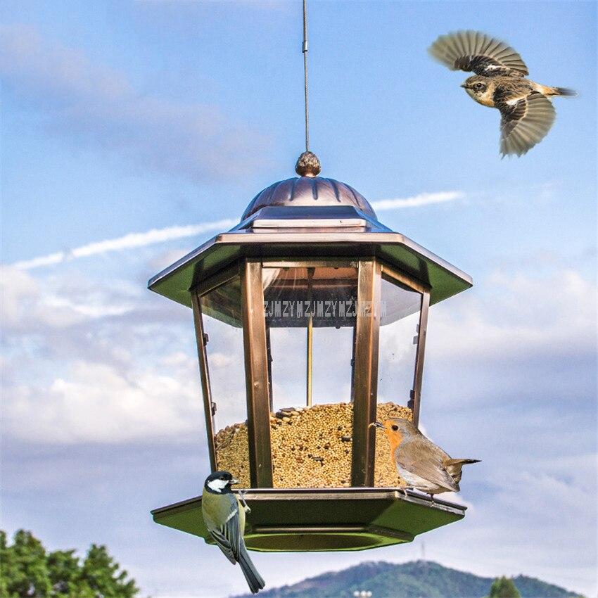 Mangeoire pour oiseaux sauvages décorative de luxe de style européen mangeoire pour oiseaux en plein air s récipient de nourriture parfait pour la décoration de jardin balcon de la maison