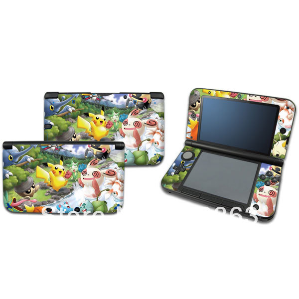 New pokemon pikachu vinyl decal skin sticker case cover for Housse 3ds xl pokemon