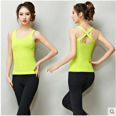 Women Yoga Shirts Sleeveless Sport Running Vest Dry Quick Tank Tops for Gym Fitness Shirt Elastic Breathable Top