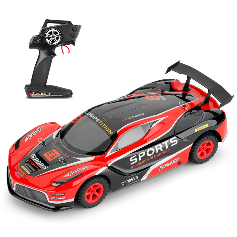 New Racing Game High Speed Electric Flat Run RC Car 2.4G 1:10 45CM 35KM/H On Road Drift Remote Control Racing Car Toy vs S911