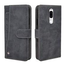 Luxury Vintage Case For Meizu X8 Case Flip Leather Silicone Wallet Cov