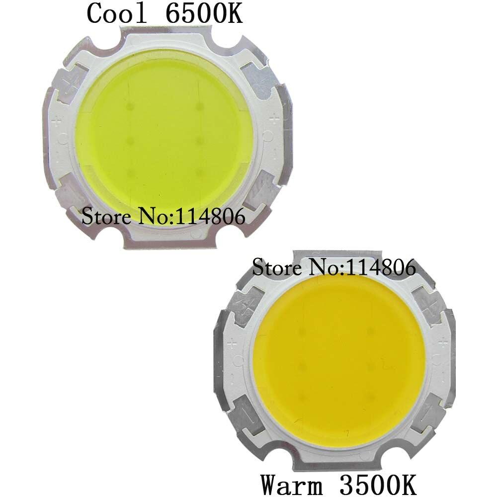 Nouveau 10PCS 3 W Blanc Haute Puissance Lumière DEL émetteur de 6000-6500K sur 20 mm Star Dissipateur de chaleur