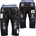 3772 invern menino meninas calças de brim do bebê macio denim e velo preto calça casual meninos calças meninas notícias não se desvanece