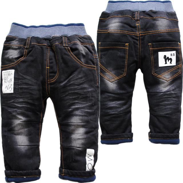 3772 soft boy jeans baby girls denim y pantalones niños niñas pantalones de lana negro ocasional winte noticias no se desvanecen