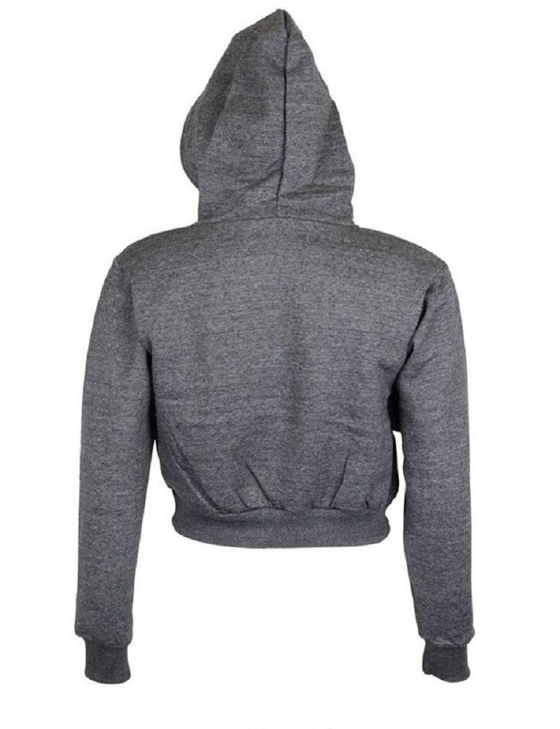 Fashion Women Sweatshirt 19 Hot Sale Hoodies Solid Crop Hoodie Long Sleeve Jumper Hooded Pullover Coat Casual Sweatshirt Top 7