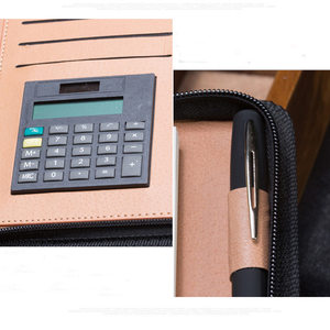 Image 2 - B5 A5 A6 Manager Spiral PU Leather Zipper Notebook  Journals Filofax Agenda Calculator Pen Holder Portfolio Organizer Planner