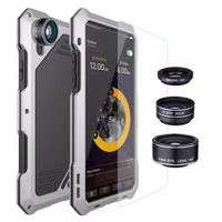 OCUBE Luxury For Iphone X Phone Case Armor Metal Heavy Duty 360 Degree Protection Lens Aluminum
