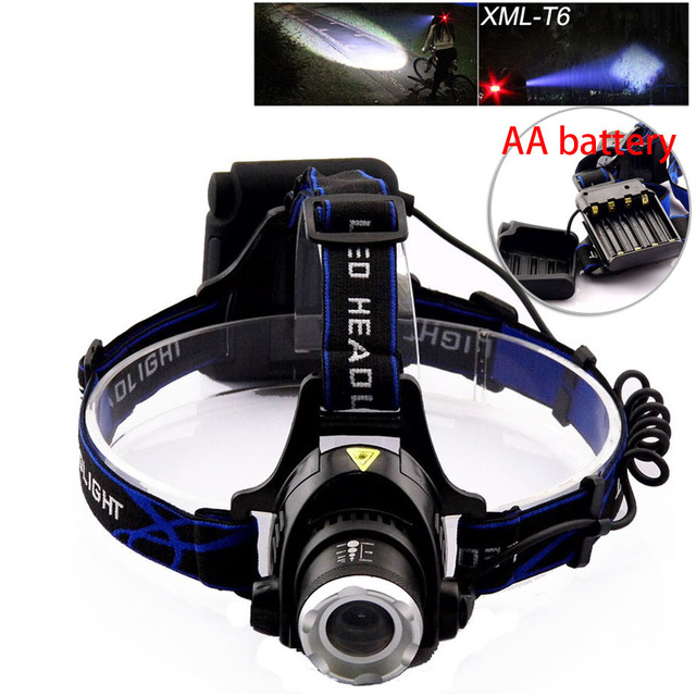 New Headlamp Aa Battery Headlight Rechargeable Frontal Led Lampe Xml T6 Outdoor Head Lamp Torch For Camping Fishing Hunting
