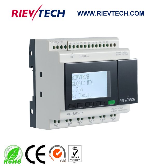 New Ethernet PLC,ideal Solution For Remote Control&monitoring&alarming Applications,Built-in Ethernet Capability PR-18AC-R-N
