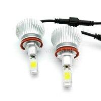 Set Car Fog Light LED Headlights H8 H9 H11 50W 5600lm Automobiles Headlamp H7 HB3 9005