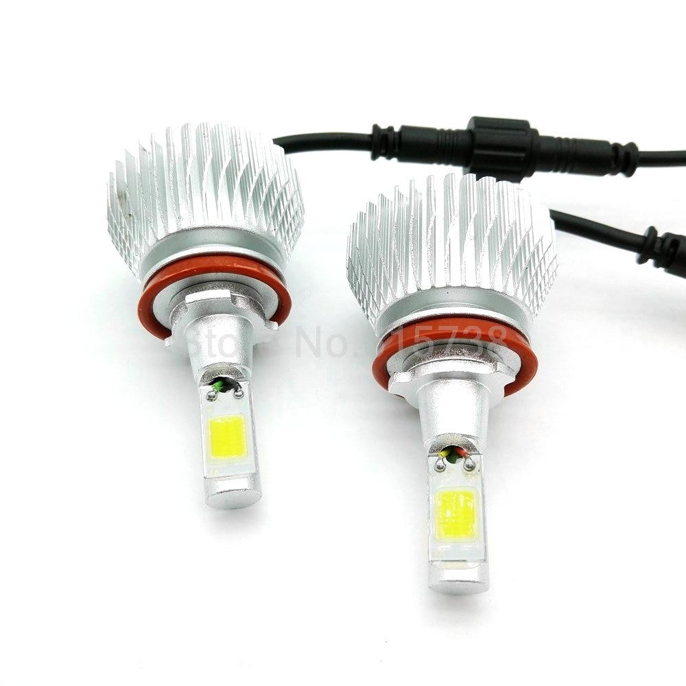 1 pair  Car fog light LED Headlights H8/H9/H11 80W 5600lm Automobiles Headlamp H7 HB3/9005 HB4/9006 H10 Bulb Auto Front lamps 2pcs cars headlight led cob kits h1 h3 h4 h7 h8 h9 h11 hb3 hb4 9005 9006 bulb car front fog lamps car led headlamp car styling