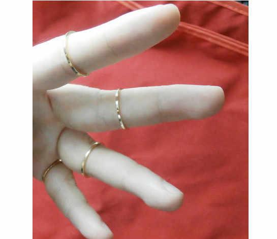 Rx500 1 pçs nova moda liga geométrica simples círculo anel acessórios linda polido feminino jóias presente para a menina