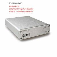 USB ЦАП Новинка 2017 года придет D30 DSD64/128 аудио Высокая производительность чистого Декодер коаксиальный Оптическое волокно процессором XMOS CS4398 ...