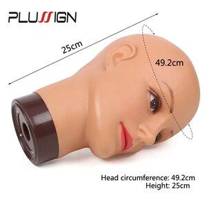 Image 5 - מקצועי סטיילינג ראש נקבה Mannequin ראש 20 אינץ אימון ראש עם שולחן מהדק לפאה ביצוע כובע תצוגת איפור עיסוק