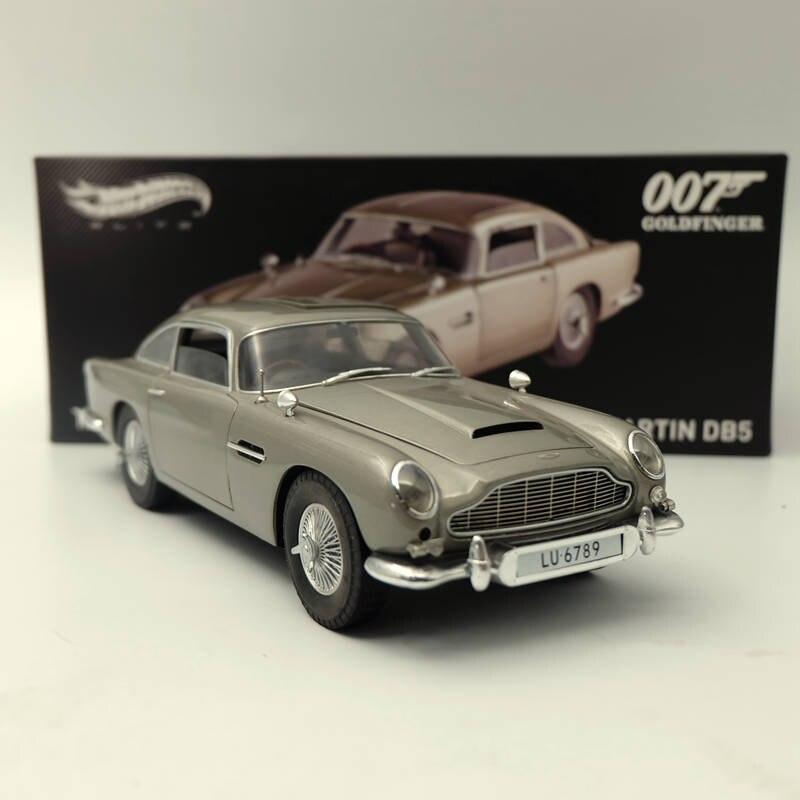 Hotwheels ELITE 1:18 Aston Martin DB5 Goldfinger 007 JAMES BOND BLY20 Diecast Toys Car Models Limited Edition james martin