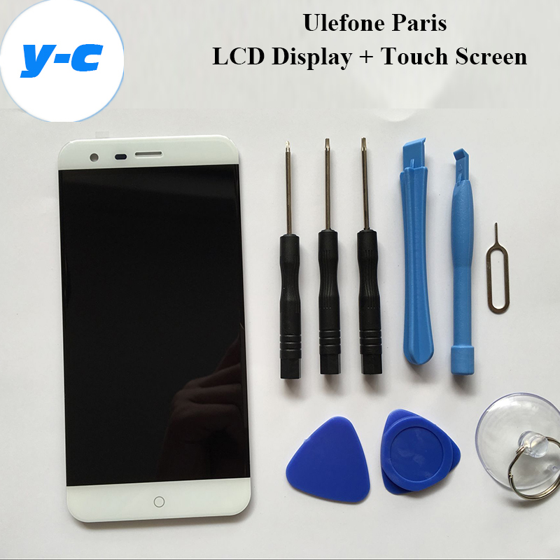 Ulefone Paris Touch Screen+LCD Display New Original Digitizer Glass Panel Assembly Ulefone paris 1280x720 HD 5.0inch Cell Phone household mini electric induction cooker portable hot pot plate stove dorm noodle water congee porridge heater office eu us plug