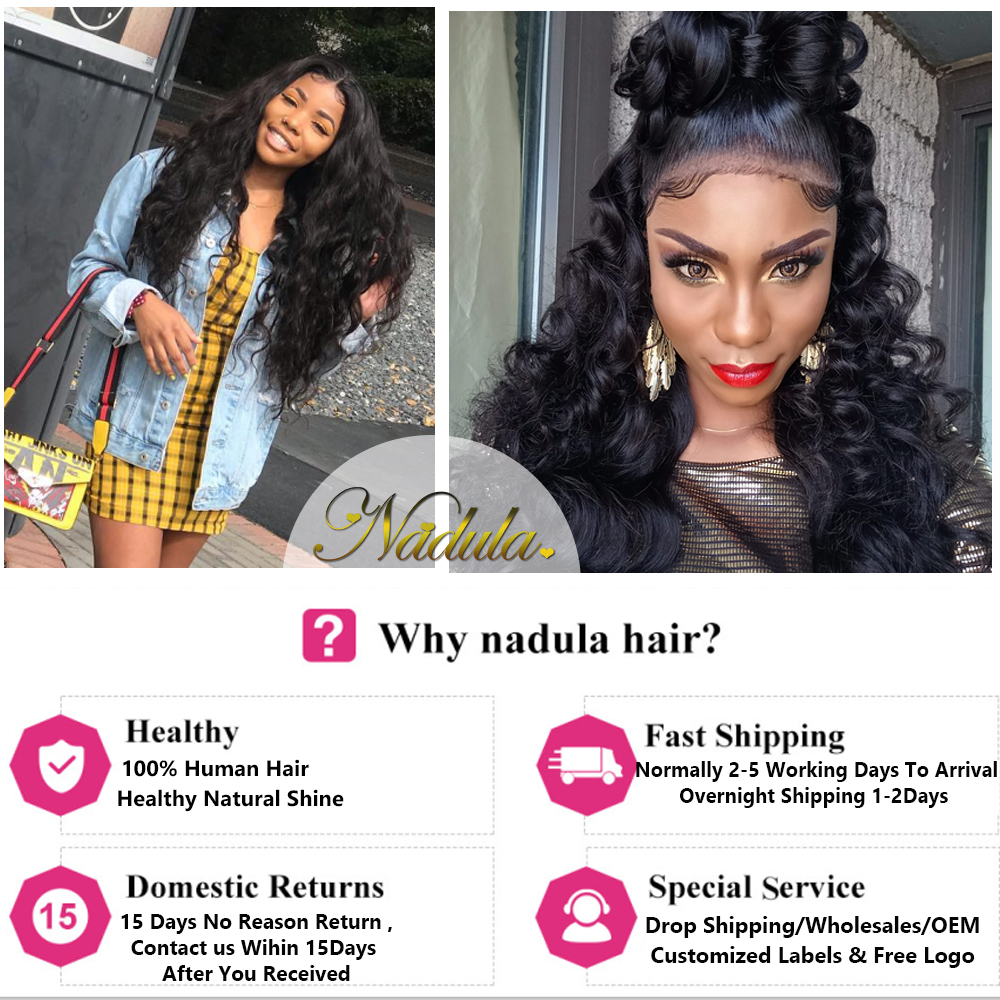 Nadula Hair 3 Bundles With 2Pcs Closures  Body Wave With Closure 100%  Bundles With 4*3 Lace Closure 6