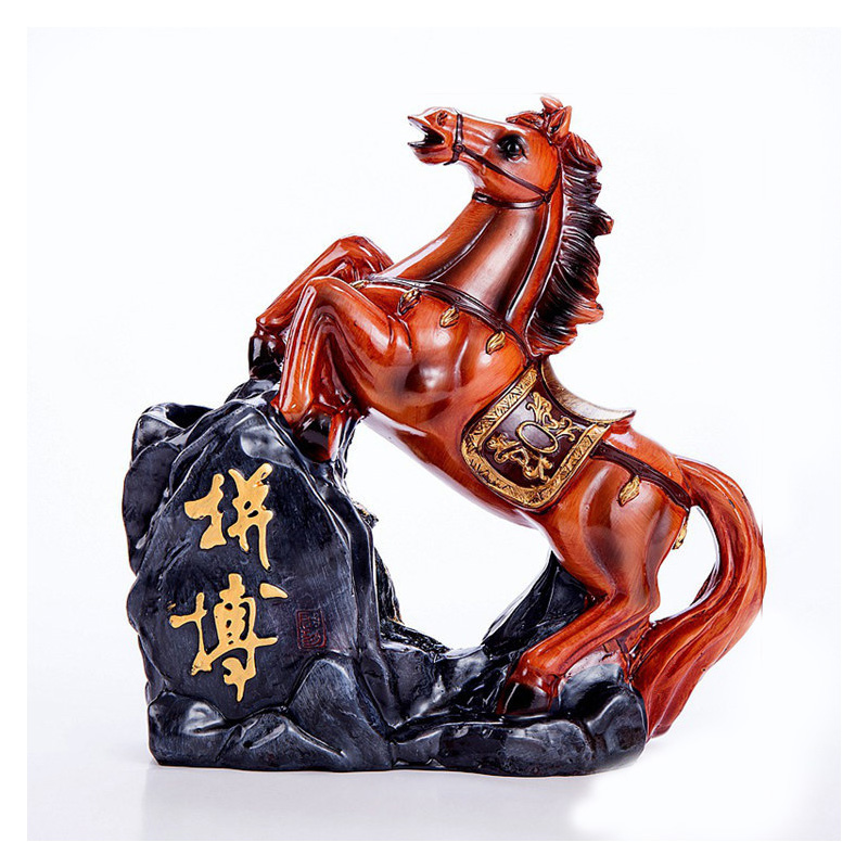 Classical Chinese Statue Horse Pen Holder Ornaments Figurine Horse Crafts Office Furnishing Study Room Home Decor Business Gifts