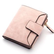 Кожаный женский бумажник на застежке малого и тонкий монета карман дизайнерские женские Кошельки Держатели карт Элитный бренд кошельки, дизайнерские кошельки