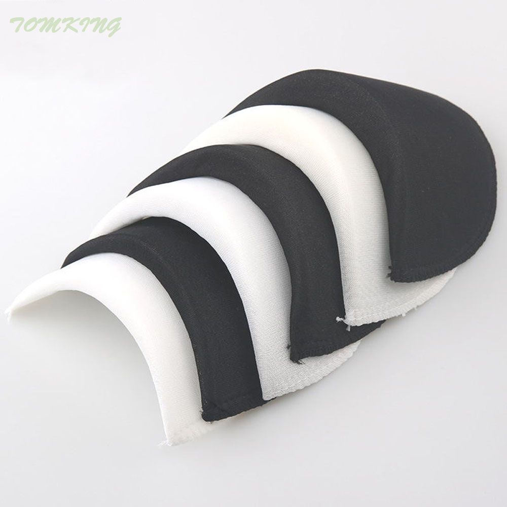 Wholesale 1 pair Soft Padded Shoulder Padding Encryption Foam Shoulder Pads for Blazer T-shirt Clothes Sewing Accessories