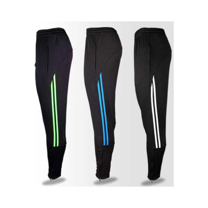 Shinestone New Design Soccer Pants Breathable Men Sports Pants With Zipper Pocket Football Training Trousers
