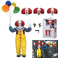 Horror IT THE MOVIE 1990 Deluxe Edition Stephen King's It Action Figure NECA Pennywise Joker Movable Toy Halloween Collectibles