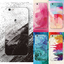 For Iphone 6 Case luxury phone Graffiti Painted oil Painting color Design cases for iphone 6s cove silicone back