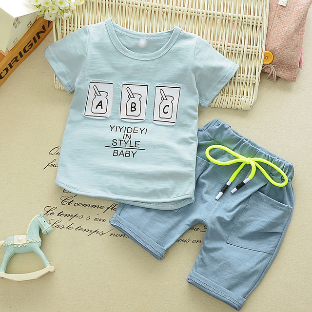 8ed200ab8 Summer Suit Children Clothes 0 1 2 3 4 Old Boy Baby Boom Short ...