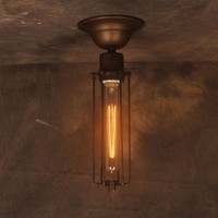 Vintage Iron Hardware Case Ceiling Light Industrial Edison Lamp RH Loft For Home Coffee Bar Restaurant