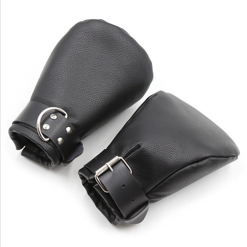 PU Leather Premium Puppy Play Set,Soft Padded Pup Puppy Mitts,BDSM Bondage,Dog Paw Print Paws Mittens,Adult Sex Toys ,Fist Glove