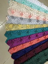 African lace fabric 5yds/pce by dhl laser cut with flowers and beads for event dresses 2017 new arrival nigerian fabrics