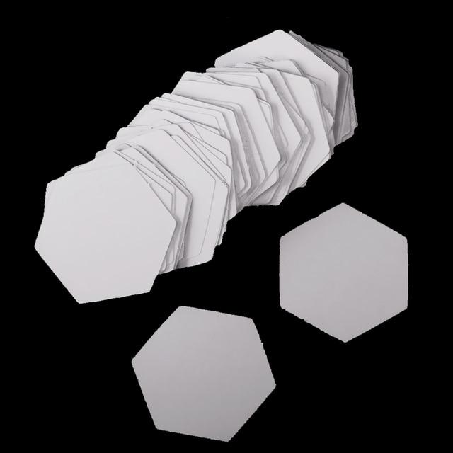Neue 100 Stücke Hexagon Englisch PAPIER SETZEN Quilten Vorlagen ...