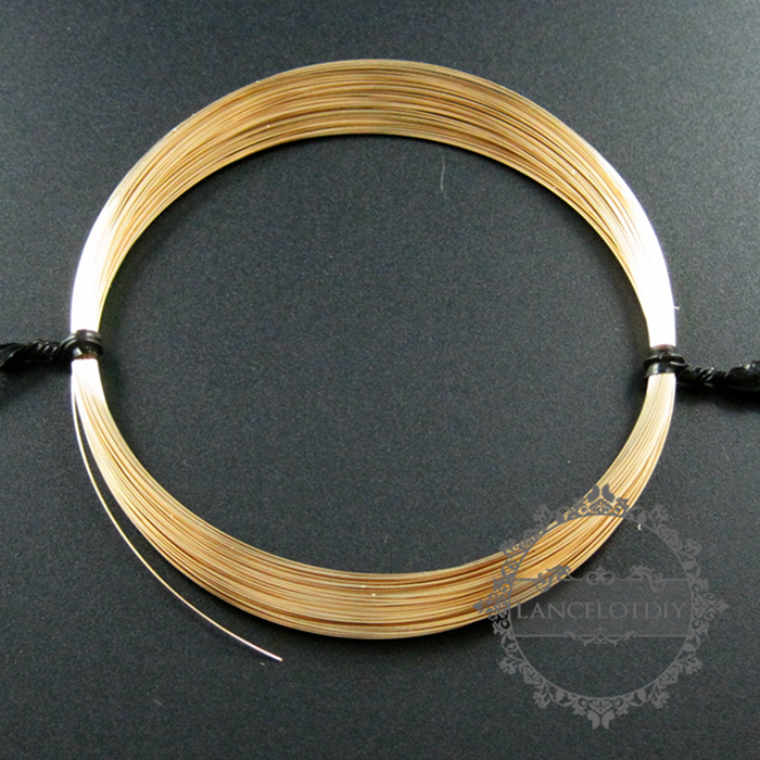 1meter 28gauge 0.33mm Half Hard Gold Filled Color Not Tarnished Beading Jewelry Wire Supplies Findings 1505001