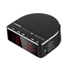 цена на Multi-Function Wireless Bluetooth Speaker Music Player LED Alarm Clock Digital Display FM Radio Hot Sale